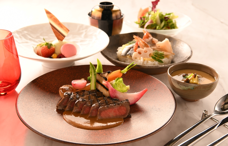 【ワンランク上のおこもりプラン】和牛グリルと岡山郷土料理のルームサービスディナー