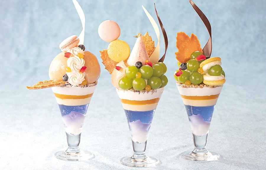 【7・8月】岡山県産フルーツパフェ3種
